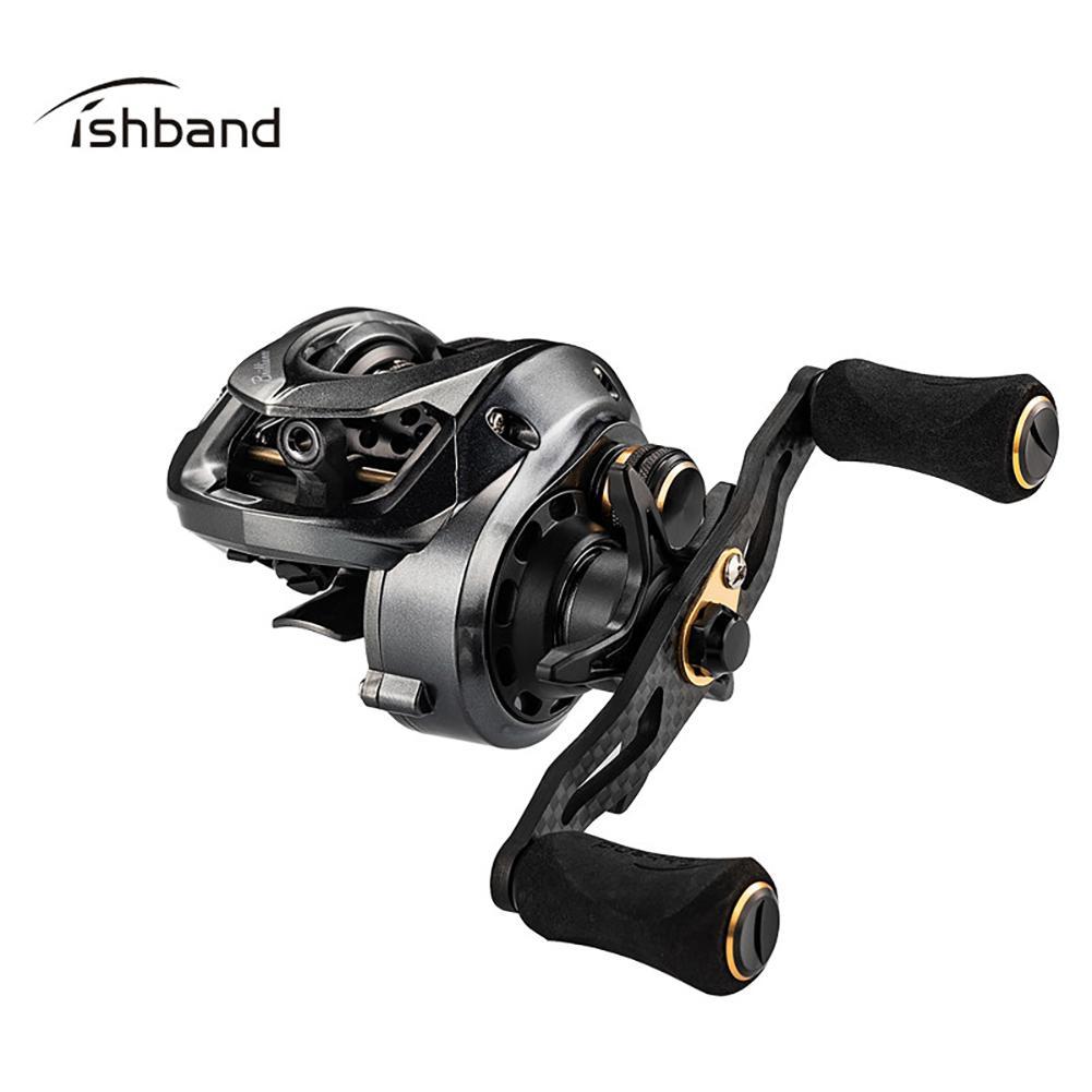 New Right Left Hand Baitcasting Carbon Rocker Arm Fishing Reel GH100 Shallow Spool Fishing Reel