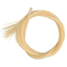 15 hanks yüksek kaliteli aygır at kuyruğu keman viyola viyolonsel yay saç 80 85 cm