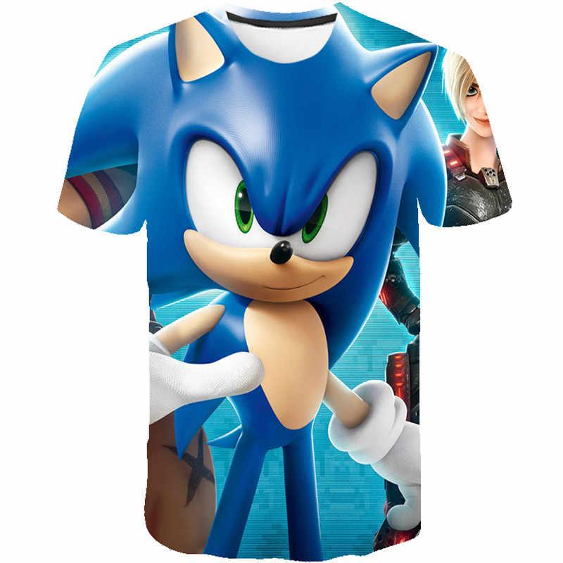 2020 niños Mario sonic the hedgehog 3D imprimir Niñas Ropa divertidas camisetas niños verano ropa niños bebé camisetas top