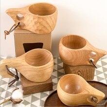 Teacup Wooden-Cup Coffee-Tea Natural Drinking-Mugs Beer-Juice Handmade Milk-Water Portable