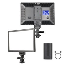 SUPON L122T LED Video Light Ultra thin LCD Bi Color & Dimmable DSLR Studio LED Light Lamp Panel for Camera DV Camcorder