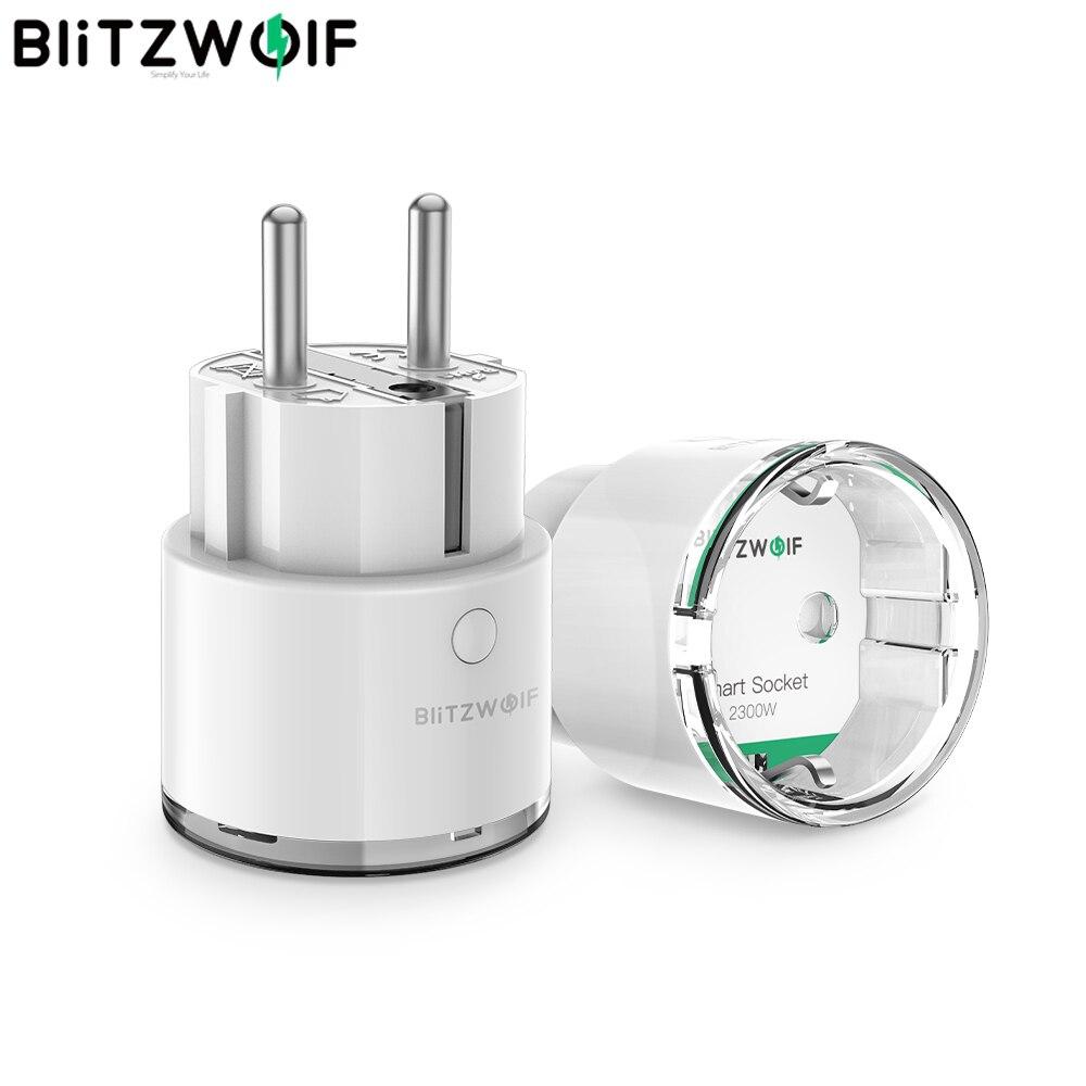 BlitzWolf BW-SHP6 EU Plug Metering Version WIFI Smart Socket 220V-240V 15A Work With Amazon Alexa Power Monitoring