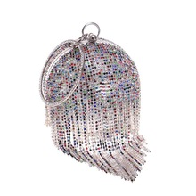 Fashion Crystal Party Evening Bags Luxury Tassel Pearl Bead Women Clutch Handbags For Women Bridal Wedding Round Ball Wrist Bag цена