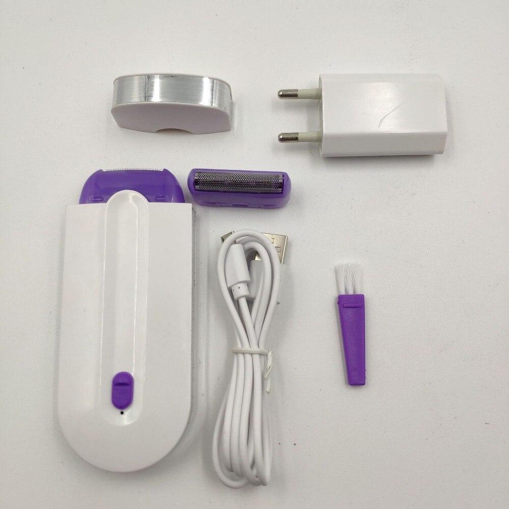 Depilador portátil usb recarregável, ferramenta de remoção