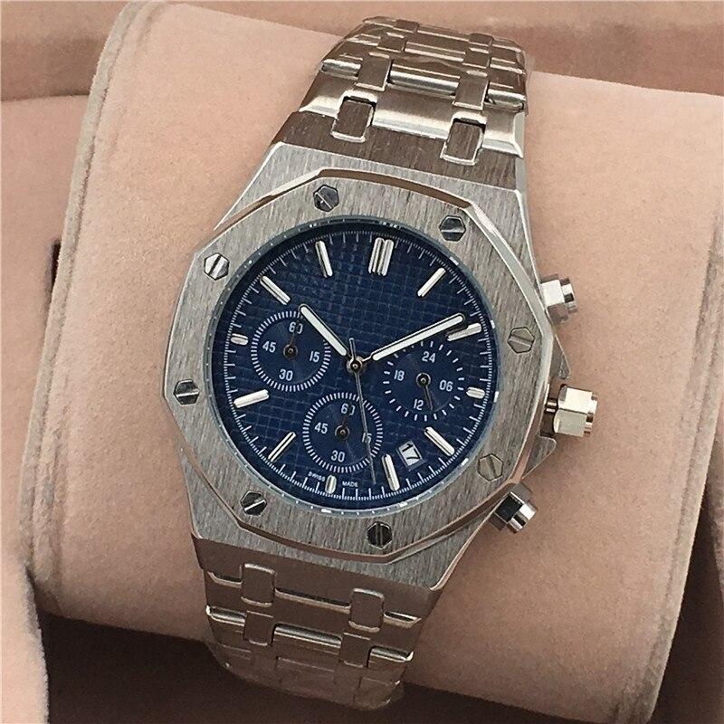 Fossile hommes montres haut de gamme montres de luxe hommes Quartz acier armée militaire AP montres hommes d'affaires montre-bracelet