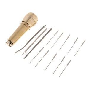 Leinwand Leder Zelt Nähahle Hand Stitcher Gerade & Gebogene Nadeln Leder handwerk Kit Werkzeug