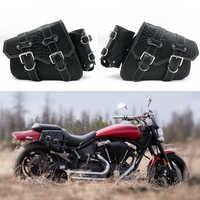 Motorrad PU Krokodil Leder Sattel Taschen Gepäck Links + Rechts Seite Werkzeug Tasche Für Yamaha Honda Harley Sportster XL 883 XL1200
