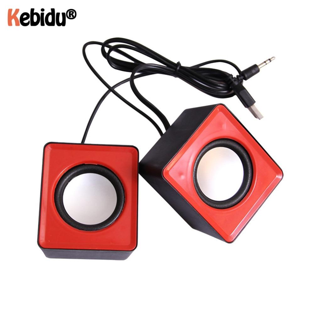 Kebidumei Mini Music Loudspeaker USB 2.0 Stereo Speakers for PC Laptop Notebook Computer Desktop Home Theater Party 1