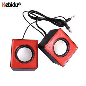 Миниатюрный музыкальный громкоговоритель Kebidumei, USB 2,0, стереодинамики для ПК, ноутбука, компьютера, настольного компьютера, домашнего киноте...