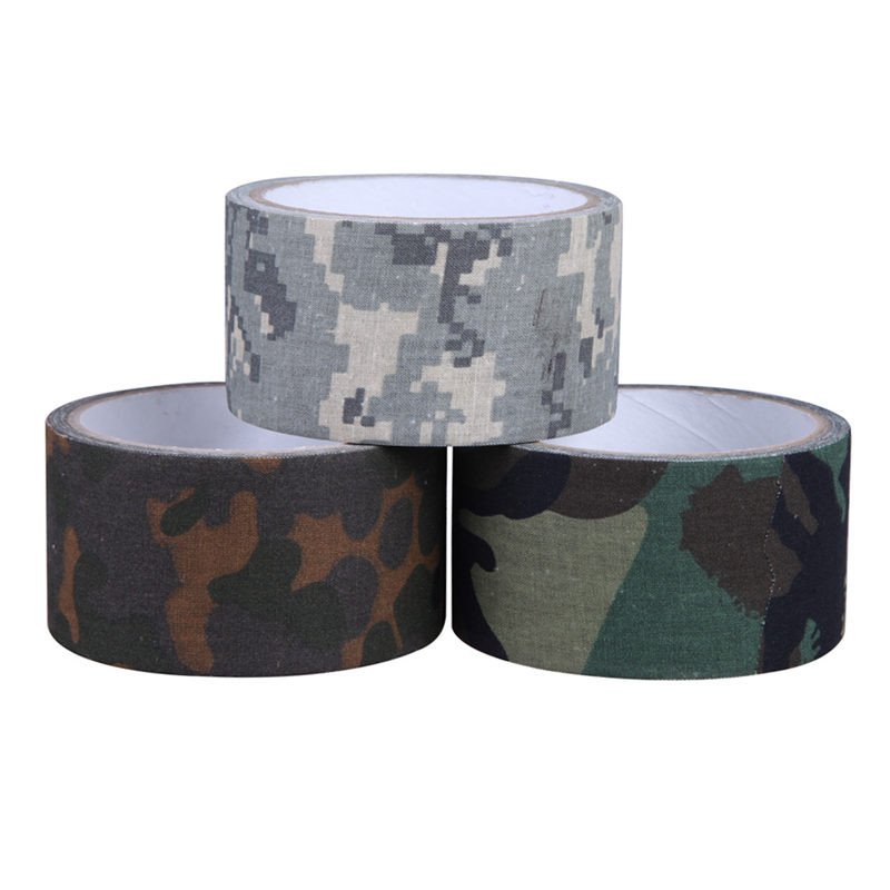 10m Camping Camouflage Tape Waterproof Gun Hunting Accessories Cotton Cloth+Hot-melt Outdoor Birds Watching Photographers Tape