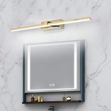 Modern LED Mirror light Bathroom warm white /white washroom Front mirror lamp fixtures makeup mirror light 90-260V Chrome/Gold