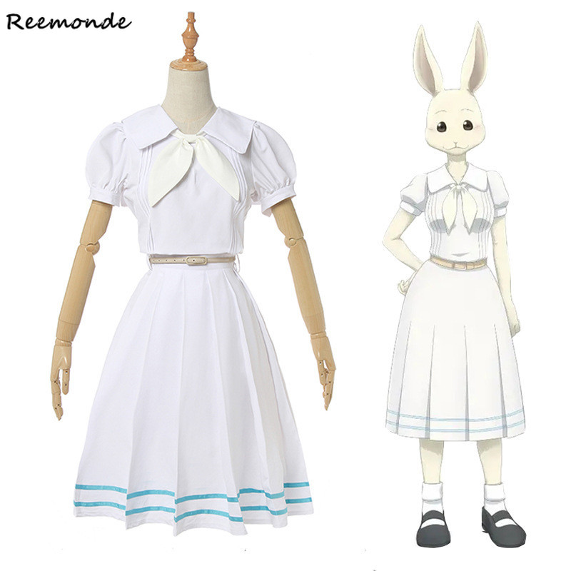 Anime Beastars Haru Cosplay Costume Lolita Haru Dress Skirt  Women School Uniform White Rabbit Girls Japanese Uniform Outfit