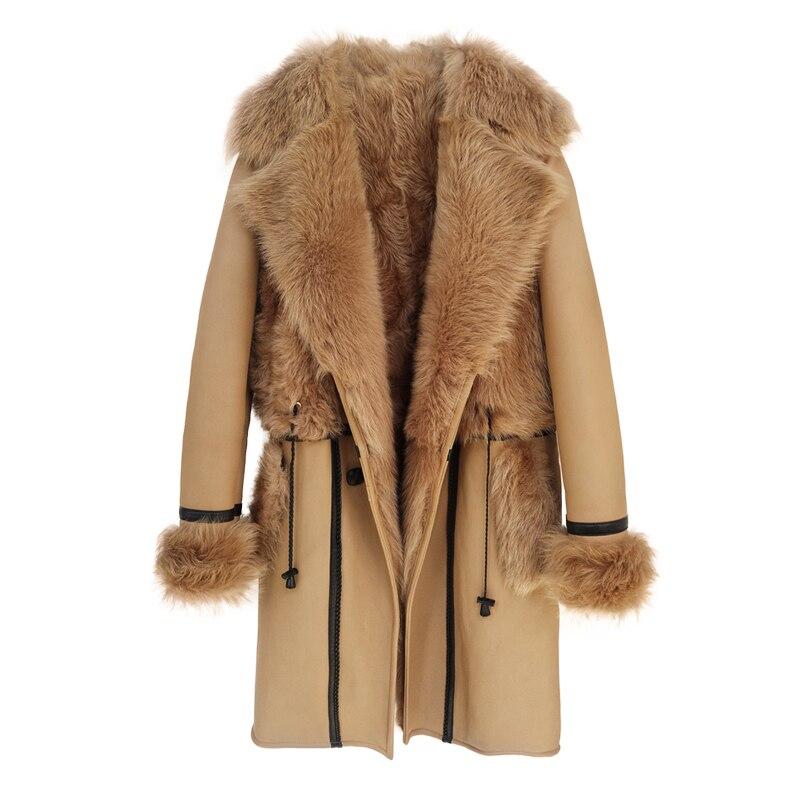 Natural Fur Coat Female Winter Real Fur Liner Jacket Women Vintage Double Faced Tops Korean 100% Wool Jackets Hiver 2020 1962