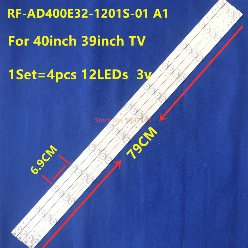 4 Pieces/lot 100%NEW High Quality LCD TV Backlight Strip 40 Inches 39 Inches RF-AD400E32-1201S-01 A1 12LED 79CM