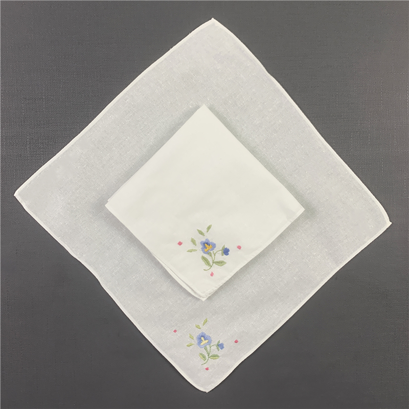 Set Of 50 Fashion Children's Handkerchief Baby Napkins Children' S Handkerchiefs Towel Cotton Color Embroidery Floral 10x10-inch
