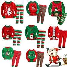 Новые детские пижамы; детская одежда для сна; Одежда для маленьких девочек; пижамные комплекты с героями мультфильмов для мальчиков; хлопковая одежда для сна; одежда для детей; рождественские подарки