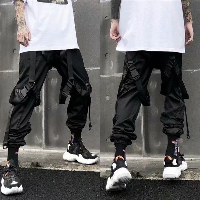 Calça casual dos homens carga calça hip hop corredores streetwear moda sweatpant sportwear pantalon homme 2020 calças 4