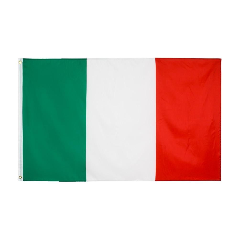90x150 см зеленый, белый, красный, итальянский флаг