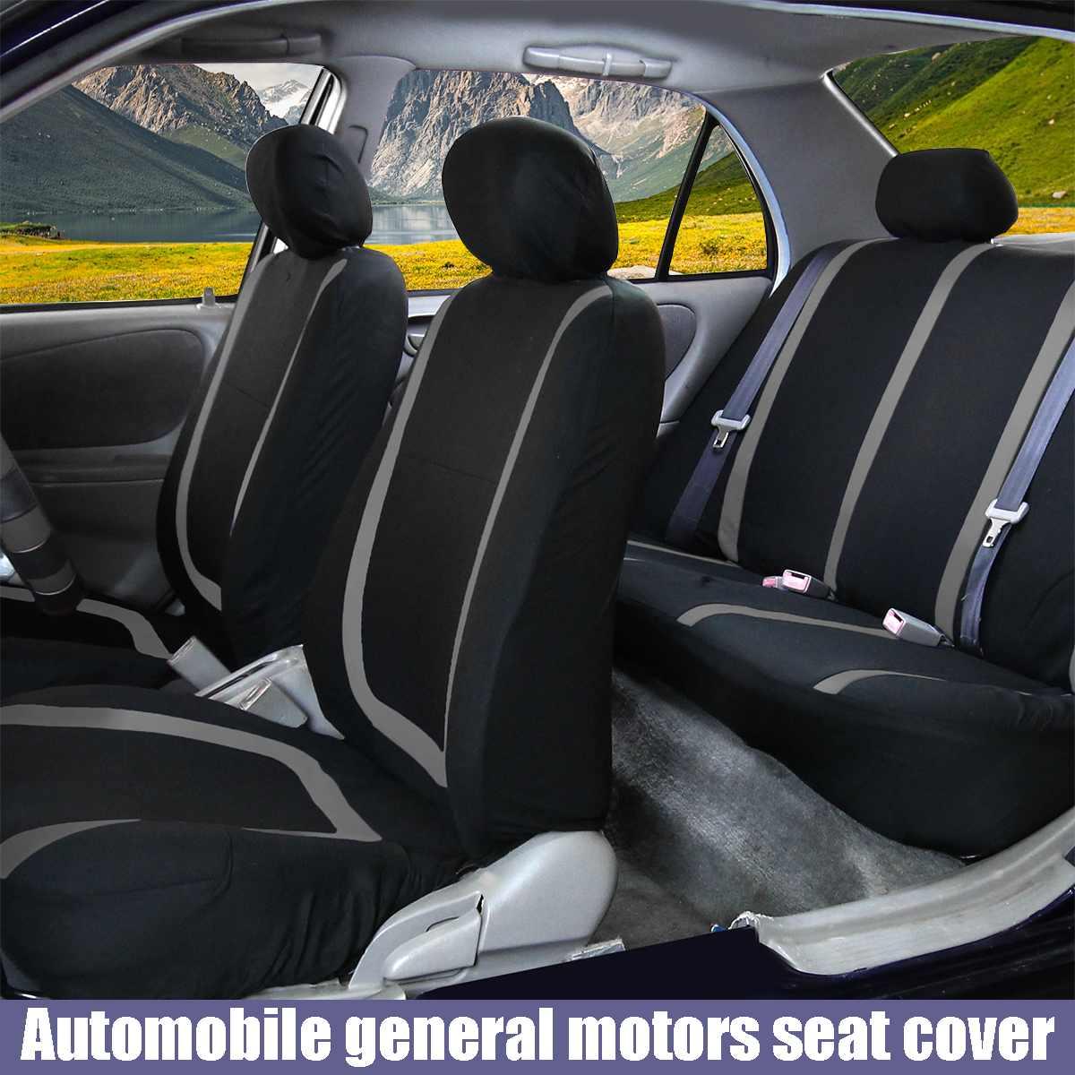 9 шт. универсальный чехол для автомобильных сидений из полиэфирной ткани, чехлы для автомобильных сидений, чехлы для автомобильных сидений, ...