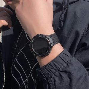 Image 5 - 2020 naylon bant için Amazfit İzle t rex akıllı saat bilek kayışı değiştirme aksesuarları bilezik HuaMi Amazfit T rex Pro