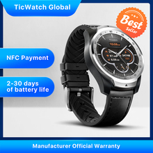TicWatch Pro Global Version Smart Watch Wear OS by Google for iOS& Android NFC Payment GPS Waterproof IP 68 Bluetooth Smartwatch