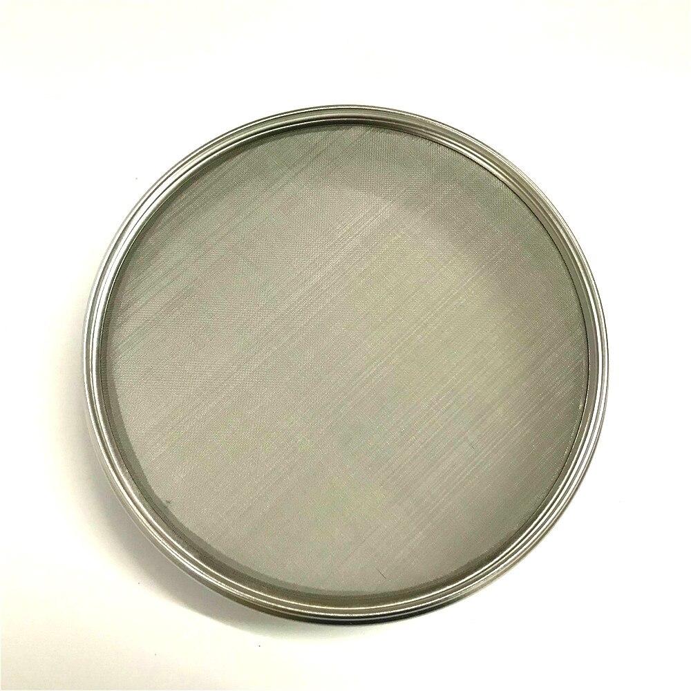 Купить с кэшбэком Standard Laboratory Test Sieve Sampling Inspection Pharmacopeia Sieve Diam. 20cm 304 SUS Filter Mesh Chroming Frame 0.074-1.6 mm