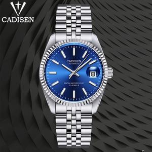CADISEN DESIGN Top Brand Automatic Men's Watches Japan NH35A Waterproof Mechanical Wrist Watch Sapphire Glass Stainless Steel