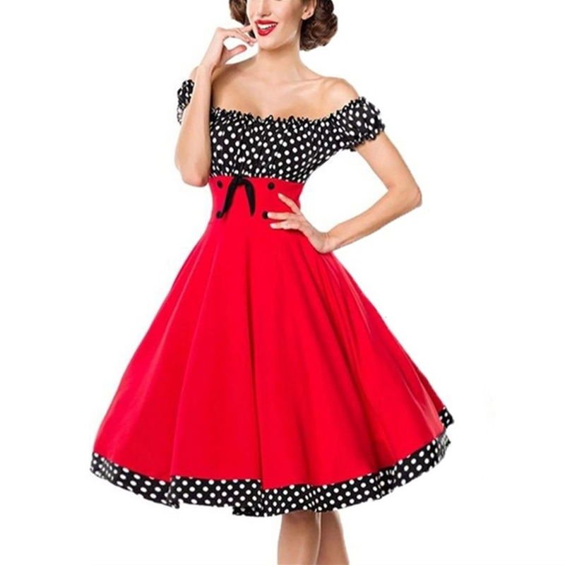 missjoy vestido feminino bolinhas vestido feminino sexy 01