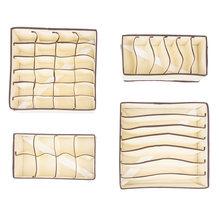 4 шт органайзер для выдвижных ящиков складной тканевый разделитель