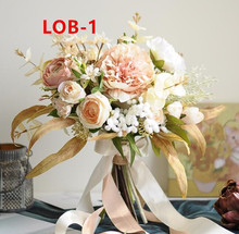 Acessórios de noiva de casamento segurando flores 3303 lob