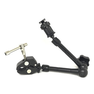 """Image 4 - Jadkinsta 11"""" Inch Articulating Magic Arm + 15mm Rod Clamp + Large Super Clamp Large Crab Pliers Clip HDMI Monitor LED Light"""