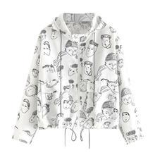 Женские куртки с длинным рукавом и принтом размера плюс, модная спортивная одежда для бега, белое пальто, модная женская одежда