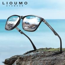 LIOUMO 2020 Fashion Square Sunglasses Men Polarized Glasses Women Outdoors Driving UV400 Coating Mirror Lenses zonnebril heren