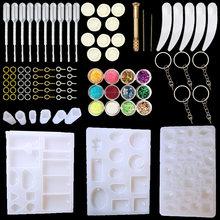 QIAOQIAO stampi per colata di gioielli con ciondolo fai-da-te, stampi per gioielli in resina siliconica Set orecchini per ciondolo fai-da-te