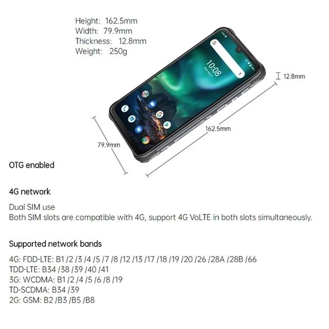 "UMIDIGI BISON Smartphone 6/8GB+128GB NFC IP68/IP69K Waterproof Rugged Phone 48MP Quad Camera 6.3"" FHD+ Display Android 10/11 5"