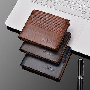 Мужской короткий бумажник с горизонтальным тиснением, многокарточный кошелек, модная сумка для карт, брендовый Роскошный кошелек для креди...