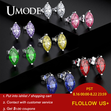 UMODE Cushion Stud Earrings Tiny Simple Girls Ear Studs Fashion Zirconia Womens Jewellery Accesoires Luxury Brand Jewelry UE0596