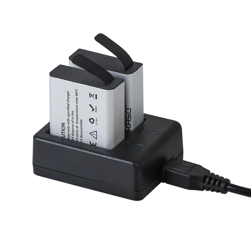 AKASO Action Camera V50X Battery 1050mAh USB Dual Charger Battery For V50X Action Camera Only