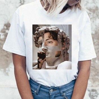 Harry Styles Korean Graphic T Shirt Women Female Femme T-shirt Tshirt Top Tee Shirts Hip Hop Summer 90s Kawaii Streetwear