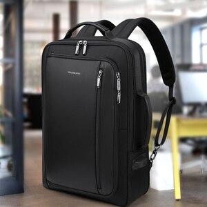 Image 2 - WILLIAMPOLO الرجال الفاخرة على ظهره متعددة الوظائف للماء سفر الأعمال مكافحة سرقة حقيبة USB تهمة دفتر ملاحظات للسفر حقيبة