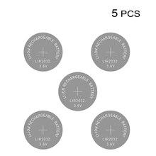 Li ion şarj edilebilir pil LIR2032 3.6V lityum düğme düğme pil izle hücreleri LIR 2032 yerine CR2032/ML2032