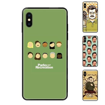 All For Xiaomi Mi Max Mix 2 3 2S 5X 6X CC9 CC9E Pro Note 10 Lite Pro Ultra Funny Parks And Recreation Black Soft TPU Case image