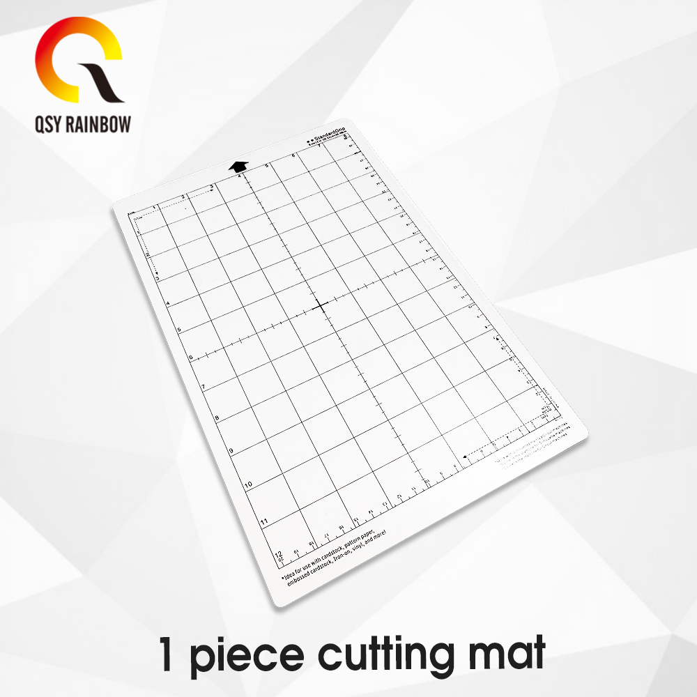 Transparent Compatible Cutting Mat Adhesive Mat With Measuring Grid For Silhouette Cameo Plotter  8 By 12 Inch
