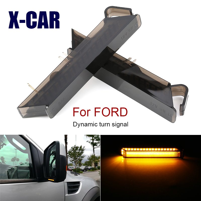 2 шт. светодиодный динамический сигнал поворота Зеркало светильник для Ford F150 2004-2014 Raptor 2010-2014 экспедиции ошибок предупреждение светильник