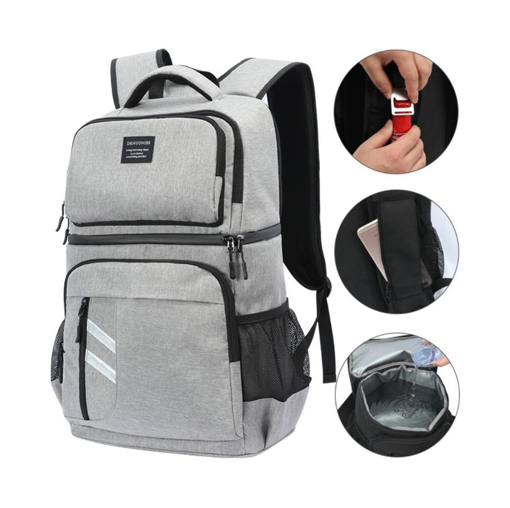 32L Large waterproof cooler bag backpack big box ice pack fresh package insulation bag meal package insulated cool bag vehicle