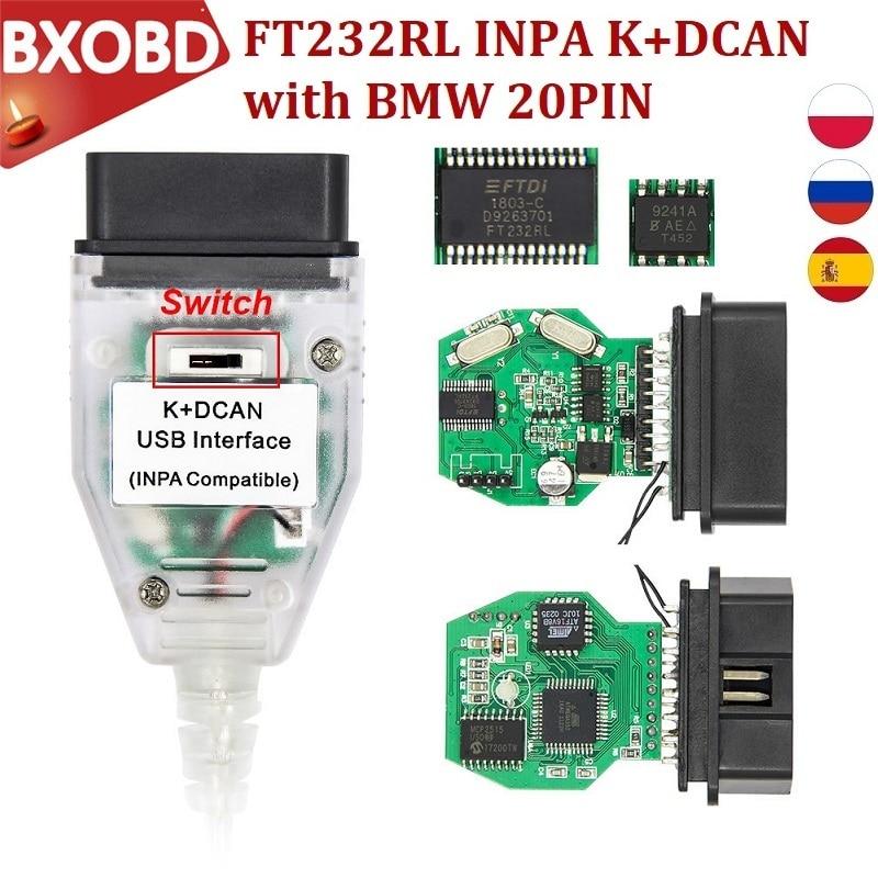 FT232RL INPA K DCAN диагностический интерфейс для BMW INPA/Ediabas K Dcan UDB интерфейс для кабеля Inpa BMW