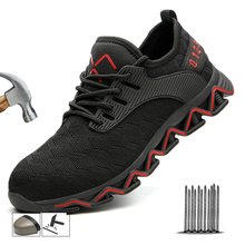 New Steel Toe Safety Boots Men Breathable Safety Shoes Boots