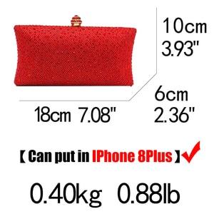 Image 5 - Boutique De FGG Elegant Red Glitterผู้หญิงClutchesกระเป๋าเจ้าสาวคริสตัลและกระเป๋าถือค็อกเทลRhinestoneกระเป๋า