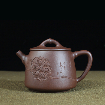 Исин рекомендуемый раздевающаяся руда окрашенная фиолетовая грязь резной Лотос каолинит ковш емкость 230 мл Новый чайный набор
