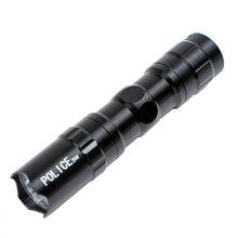 Przenośny Mini LED wodoodporna Ultra jasny latarka latarka Camping piesze wycieczki latarka kieszonkowa światła wydajne oświetlenie Accessories7 tanie tanio MZYRH S-561 Kierownica Baterii Black Aluminium alloy(light and strong) 1 * AA Battery (not included) 9 5cm * 2cm * 2cm 1 * Mini Flashlight